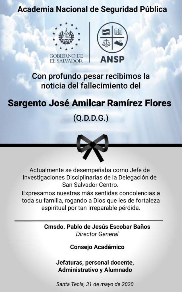 ESQUELA SGTO. RAMIREZ